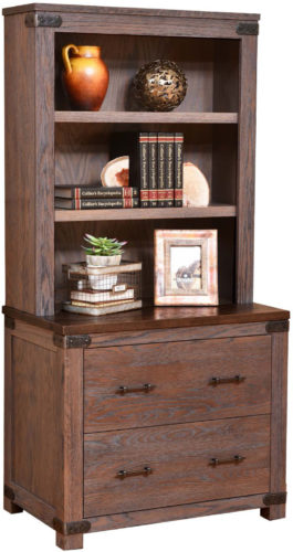 Amish Georgetown Lateral File and Bookshelf