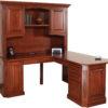 Amish Buckingham Corner Desk with Hutch Alternate View