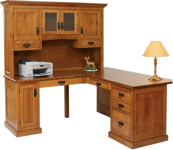 Amish Homestead Corner Desk and Hutch