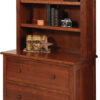 Amish Homestead Lateral File Cabinet with Hutch