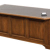 Amish Lincoln Executive Wood Desk Back