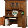 Amish Lincoln Credenza Base with Hutch Open