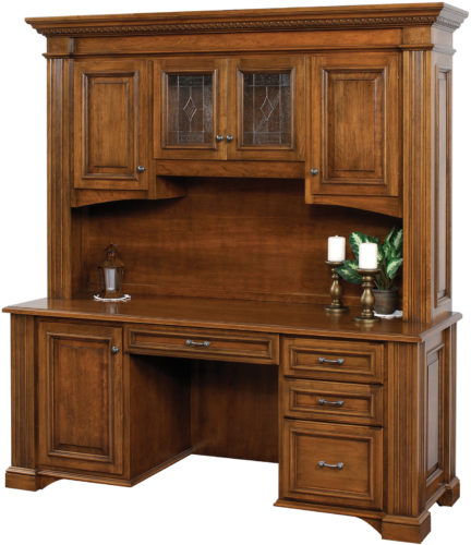 Amish Lincoln Credenza Base with Hutch