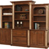 Amish Jefferson Base and Three Piece Hutch