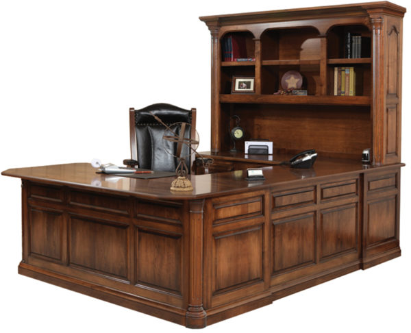 Amish Jefferson Hutch & U-Shape Desk