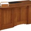 Amish Jamestown Premier Executive Desk Back Detail