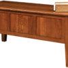 Amish American Mission Lap Top Desk Back Detail