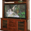 Amish Lexington Deluxe TV Stand with Hutch
