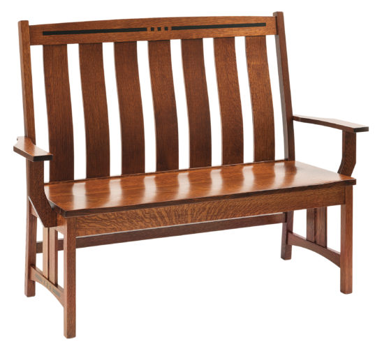 Amish Colebrook Wooden Bench