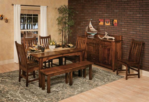 Amish Heidi Leg Table Dining Room Set