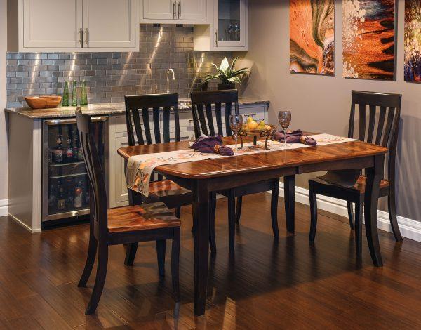 Amish Canterbury Leg Table Dining Set