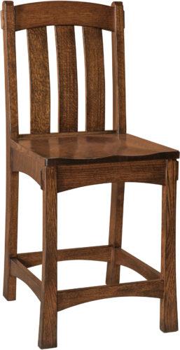 Amish Modesto Stationary Bar Chair