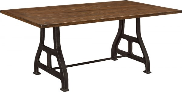 Amish Iron Forge Dining Table