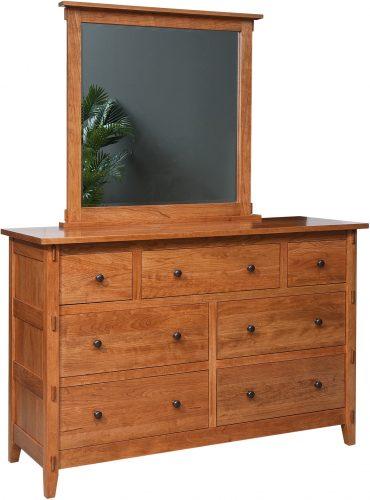 Amish Bungalow 7 Drawer Dresser