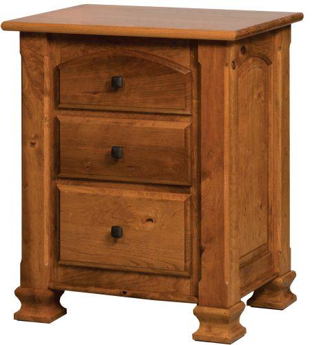 Amish Charleston Three Drawer Nightstand