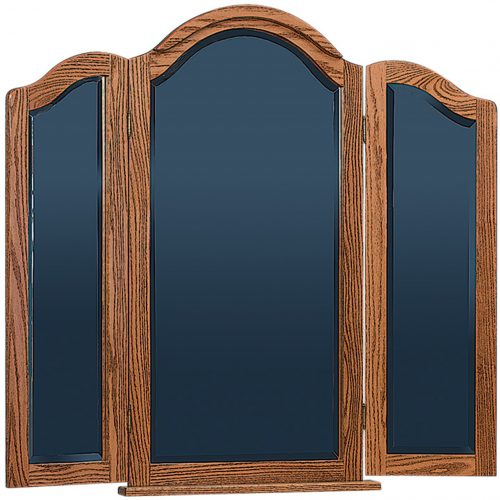 Amish Tri-View Mirror with Cap