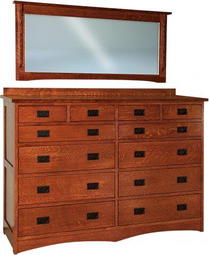 Amish Jacobson 12 Drawer Dresser