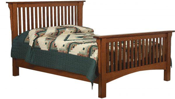 Amish Schwartz Mission Style Bed