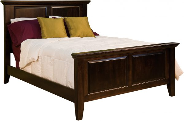 Amish Venice Wood Panel Bed