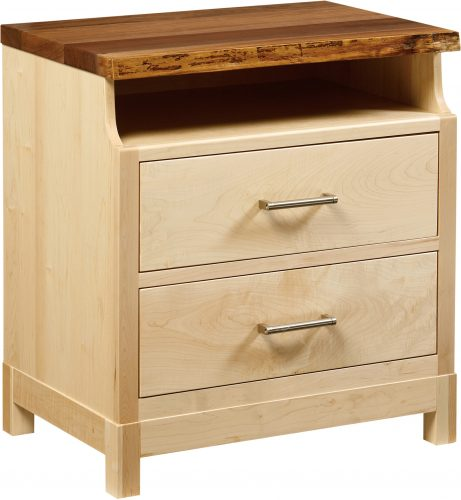 Amish Westmere Two Drawer Open Nightstand