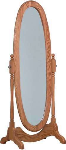 Amish Oval Cheval Mirror