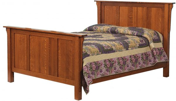 Amish Reverse Panel Bed