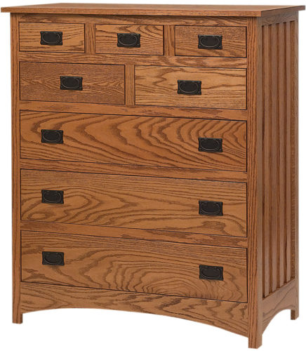 Amish Schwartz Mission Eight Drawer Bureau
