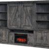 Amish Durango Fireplace Entertainment Center Closed