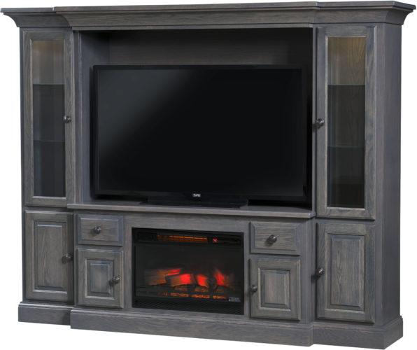 Amish Kincade Fireplace Entertainment Center