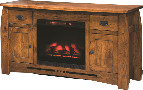 Amish Colebrook Fireplace TV Stand