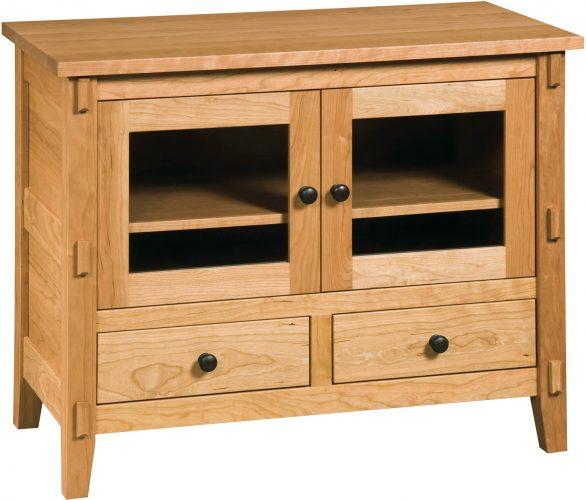 Amish Bungalow Two Door TV Cabinet
