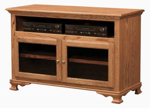 Amish Heritage Glass Door TV Stand