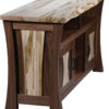 Amish Angled View of Legacy Live Edge TV Cabinet