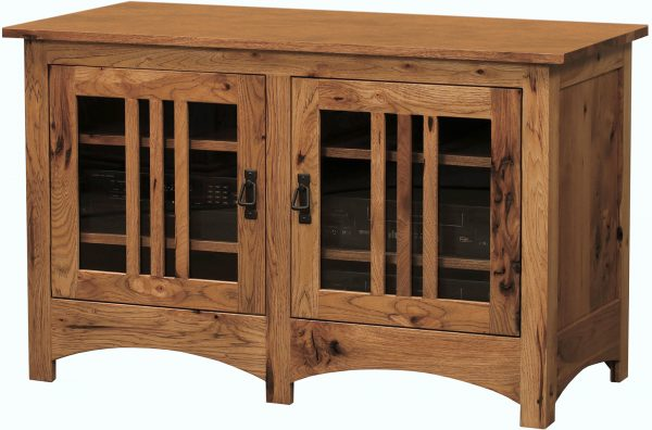 Amish Mission Mullioned Two Door TV Stand