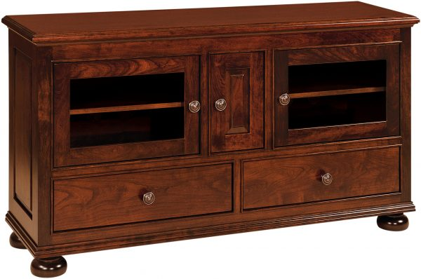 Amish Rosemont 3 Door TV Cabinet