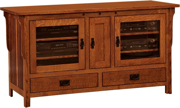 Amish Straight Royal Mission Wide TV Cabinet