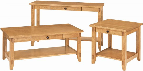 Amish Bungalow Occasional Table Set