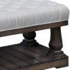 Custom Imperial Cushioned Coffee Table Detail View