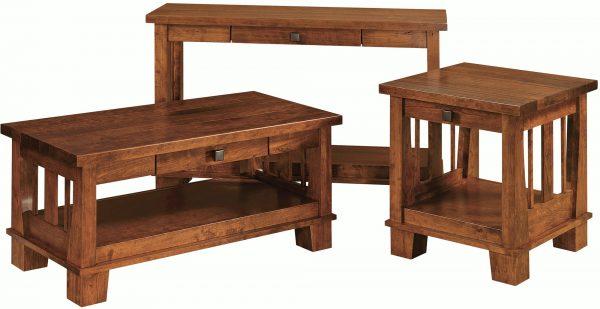 Amish Larado Occasional Table Set