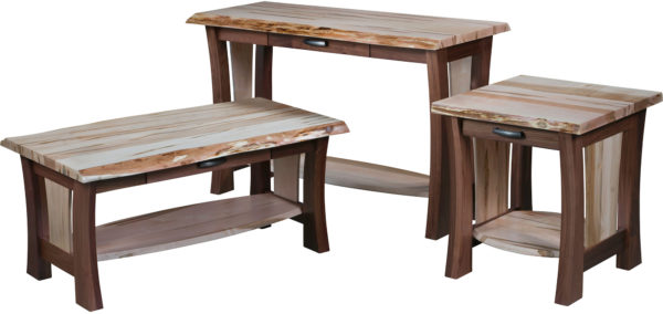 Amish Legacy Live Edge Occasional Table Set
