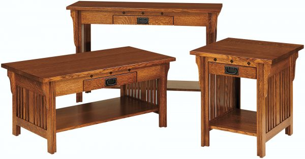 Amish Straight Royal Mission Occasional Table Set