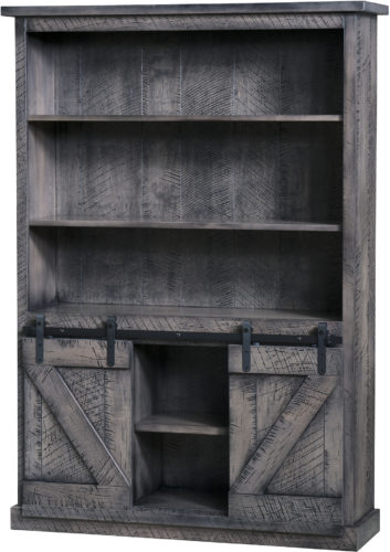 Amish Durango Barn Door Bookcase