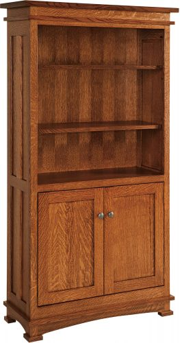 Amish Kenwood Two Door Bookcase