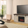 Amish Durango Fireplace TV Stand Room View
