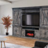 Amish Durango Fireplace Wall Unit Room View