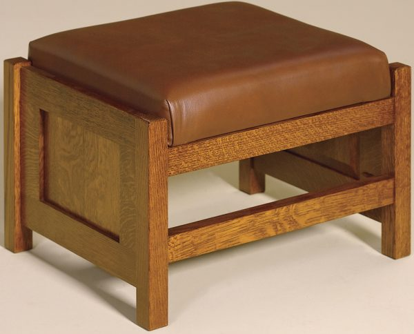 Amish Cubic Paneled Footstool