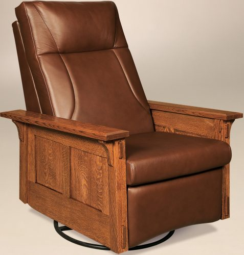 Amish McCoy Reclining Swivel Rocker