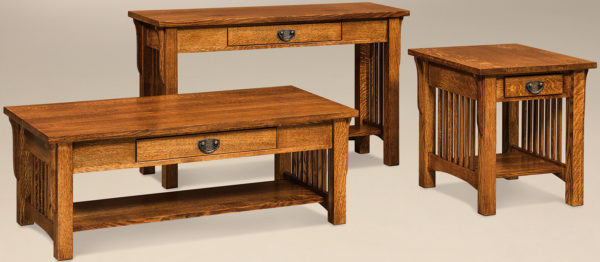 Amish Cubic Occasional Table Set