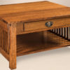 Amish Mission Slat Large Square Coffee Table