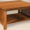 Amish Slat Square Large Coffee Table